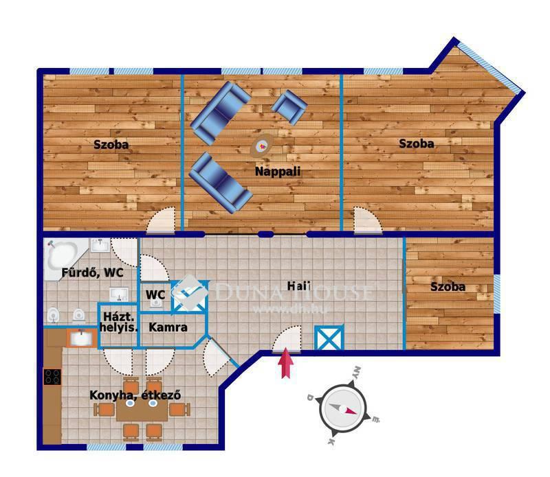 Eladó Lakás, Fejér megye, Székesfehérvár, A központban, 132 m2-es lakás