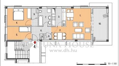 Eladó Lakás, Budapest, 2 kerület, Zöldmálon nappali+ 2 hálós, 1. emeleti lakás