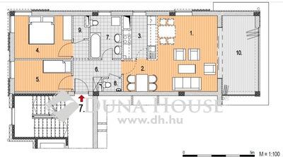 Eladó Lakás, Budapest, 2 kerület, Zöldmálon nappali + 2 hálós, panorámás