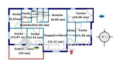 Eladó Ház, Szabolcs-Szatmár-Bereg megye, Nyírpazony, Nyírpazony csendes, aszfaltozott utcájában