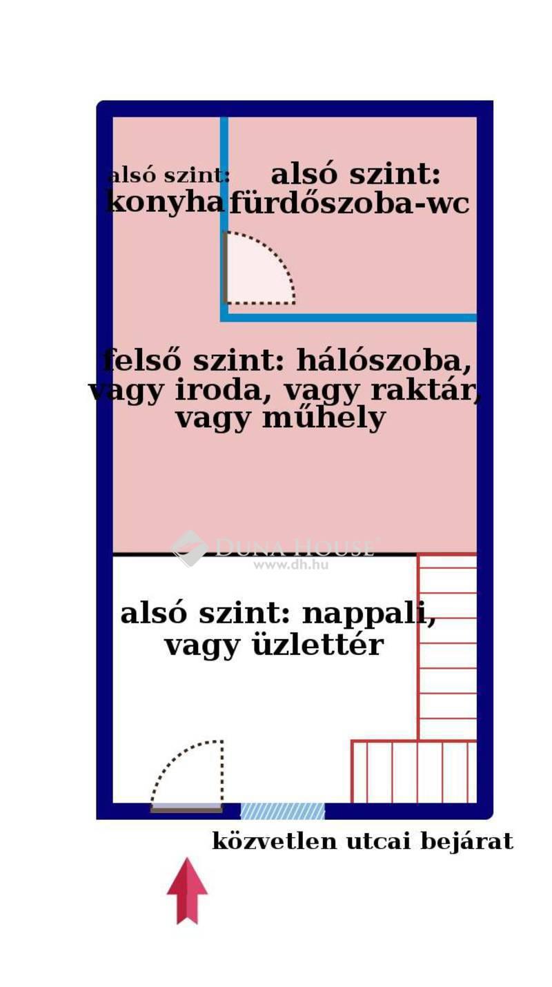 Eladó Lakás, Budapest, 9 kerület, 60 m2-es, új, 2 szintes lakás / üzlet / mindkettő