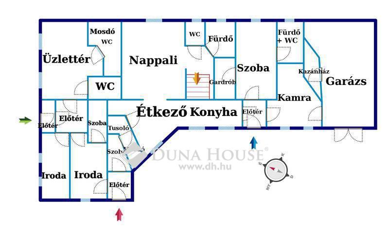 Eladó Ház, Csongrád megye, Csongrád, Csongrád központja, ház + üzlet egyben