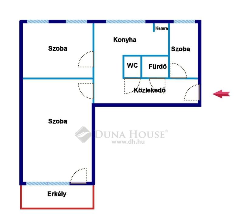 Eladó Lakás, Bács-Kiskun megye, Kecskemét, Belvárosi 2+1 szobás, erkélyes lakás