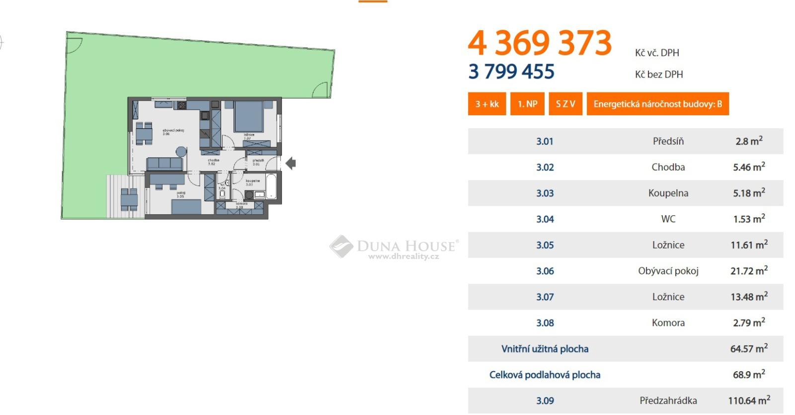 Prodej bytu, Postřižínská, Odolena Voda