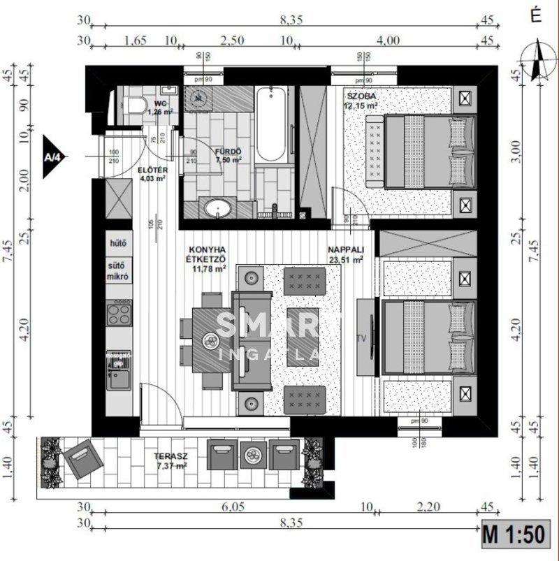 Eladó Lakás, Vas megye, Szombathely, Parkerdő LP erdőre néző első emelet,teraszos lakás