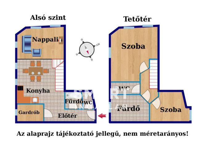 Eladó Lakás, Győr-Moson-Sopron megye, Győr, Belvárosi belső 2 szintes felújított tégla lakás