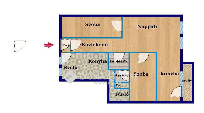 Eladó Lakás, Budapest, 8 kerület, Palotanegyedben eladó gyönyörű lakás