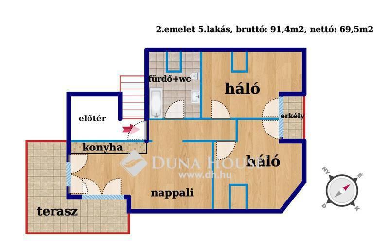 Eladó Lakás, Budapest, 14 kerület, Alsórákos,minden szoba erkéllyel +közös kert
