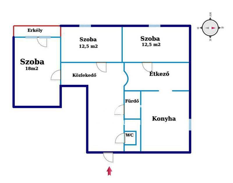 Eladó Lakás, Baranya megye, Komló, Posta közelében.