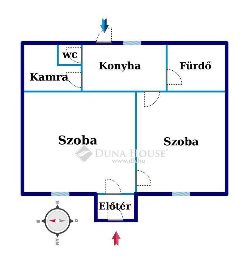 Eladó Ház, Fejér megye, Székesfehérvár, Felsővárosban 2 szobás sorház