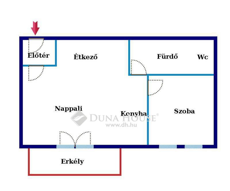 Eladó Lakás, Bács-Kiskun megye, Kecskemét, Belvárosi újépítés,3.em-i,45 nm-es, erkélyes lakás