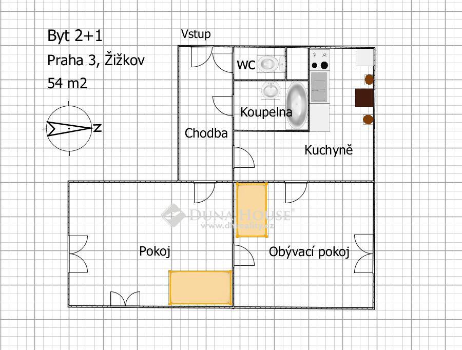 Prodej bytu, Koněvova, Praha 3 Žižkov