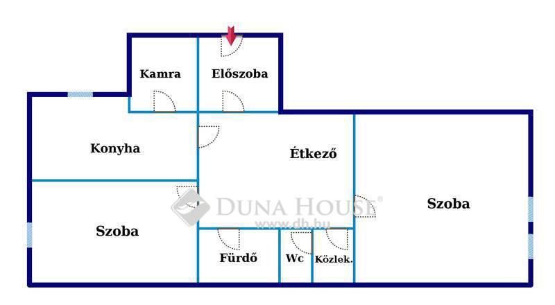 Eladó Lakás, Bács-Kiskun megye, Kecskemét, Katona Gimnázium közelében, 2 szobás, cirkós lakás