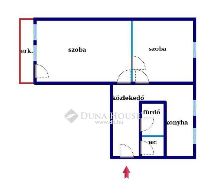 Eladó Lakás, Bács-Kiskun megye, Kecskemét, Hunyadiváros,2 szoba,erkély