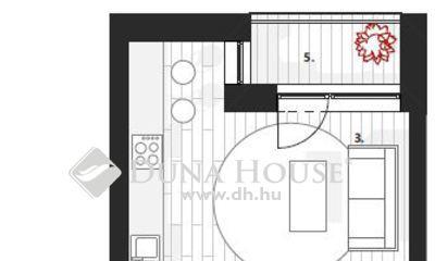Eladó Lakás, Zala megye, Zalaegerszeg, I.em, 29 m2, 1 szobás stúdió lakás