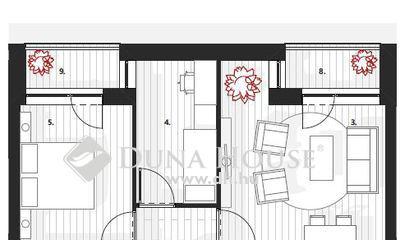 Eladó Lakás, Zala megye, Zalaegerszeg, II.em, 60 m2, nappali + 2 szobás, két terasszal