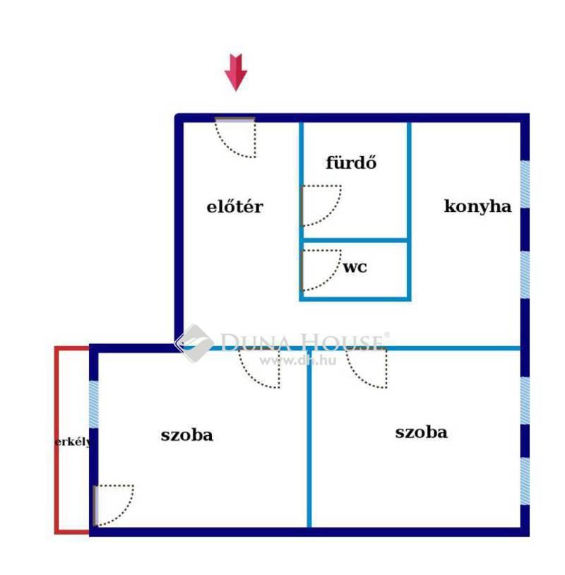 Eladó Lakás, Bács-Kiskun megye, Kecskemét, Széchenyiváros, NYILÁSZÁRÓCSERÉLT, 2 szoba+erkély