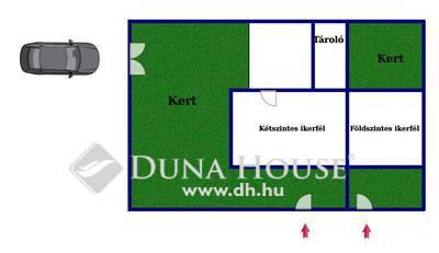 Eladó Ház, Budapest, 18 kerület, Bókaytelepen ikerházfél, beépíthető tetőtérrel!
