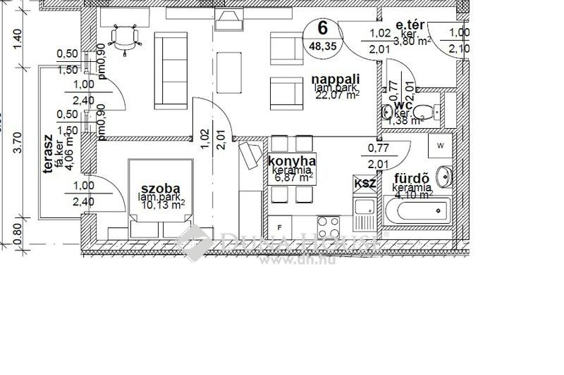 Eladó Lakás, Budapest, 6 kerület, 1+1 szobás,teraszos,1 emelet