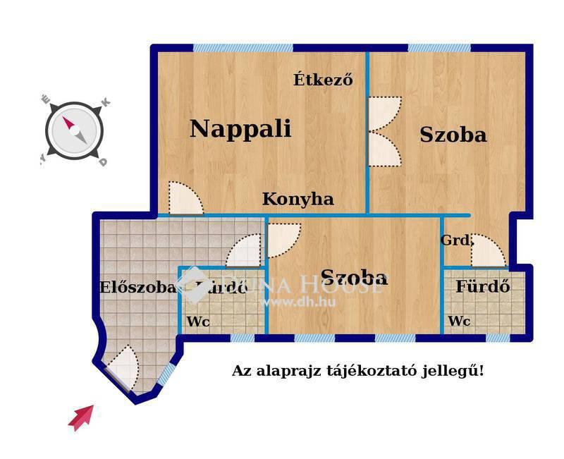 Eladó Lakás, Budapest, 5 kerület, BELGRÁD RAKPART, FRISSEN FELÚJÍTOTT, 3 SZOBÁS
