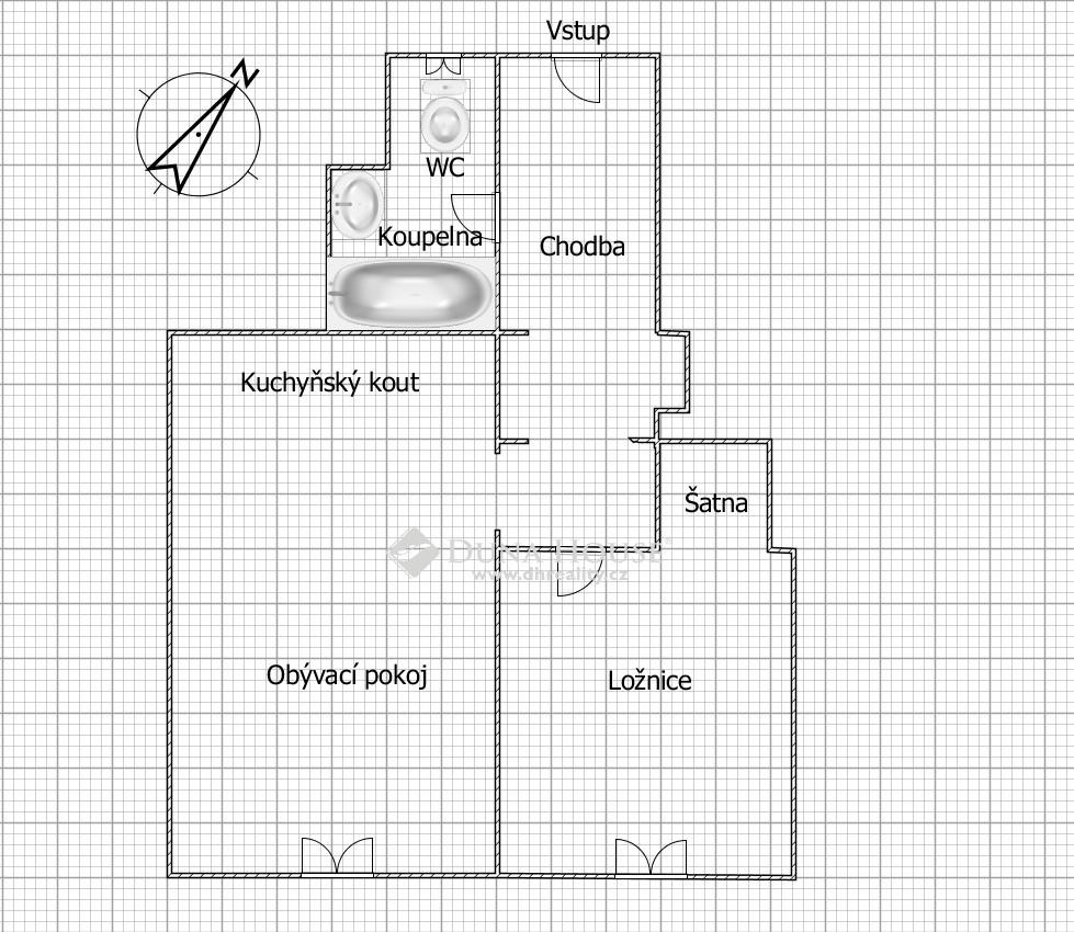 Pronájem bytu, U Nových domů II, Praha 4 Krč