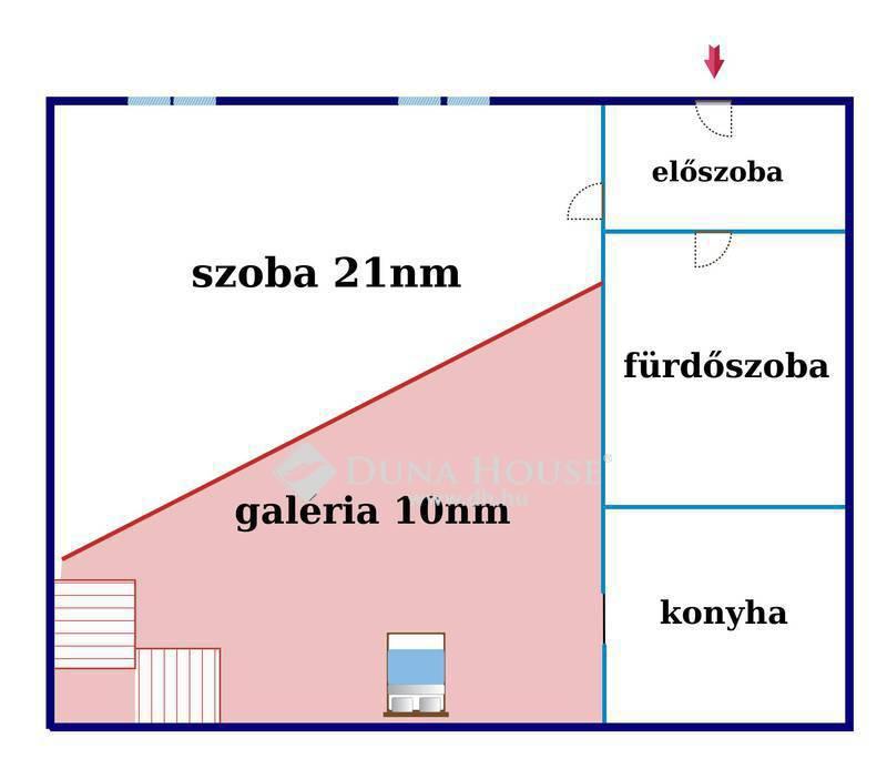Eladó Lakás, Budapest, 7 kerület, Hársfa u. 29+10nm galériás jó állapotú kis lakás