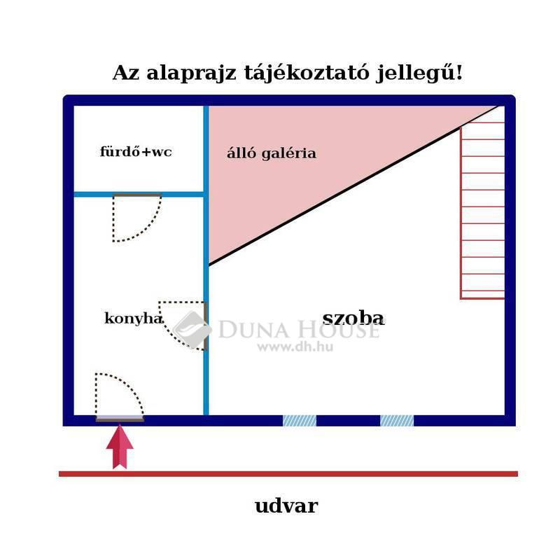 Eladó Lakás, Budapest, 8 kerület, Népszínház u, emeleti garzon, szép házban