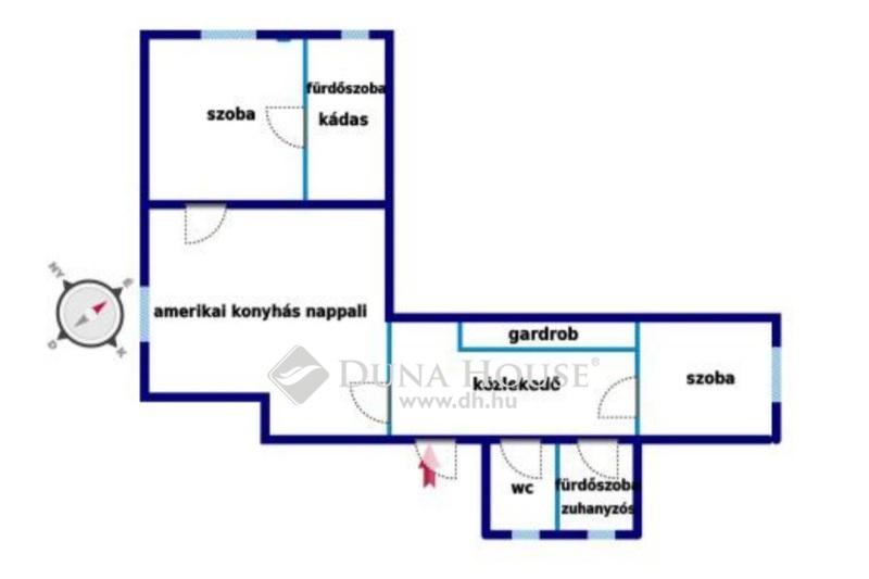 Eladó Lakás, Budapest, 14 kerület, Amerikai úton 2,5 szobás lakás szép házban