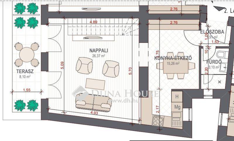 Eladó Lakás, Budapest, 6 kerület, Panorámás,nagy teraszos, 2 szintes lakás
