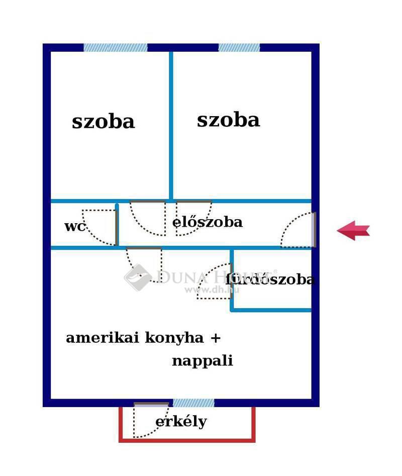 Eladó Lakás, Budapest, 4 kerület, Megyeri újépítés, 2 szoba + nappali,erkélyes