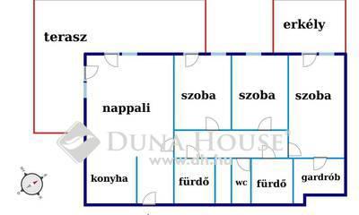 Eladó Lakás, Budapest, 13 kerület, Marina parton nappali +3 háló teraszos