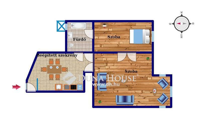 Eladó Lakás, Budapest, 1 kerület, Ostrom utcára néző 2 szobás, utcai nézetű lakás