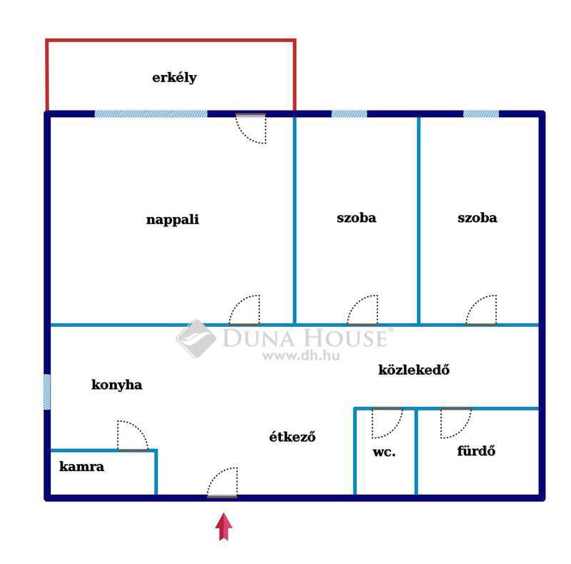 Eladó Lakás, Bács-Kiskun megye, Kecskemét, BELVÁROSBAN, 1.EMELETI, 2.5 szobás, ERKÉLYES lakás
