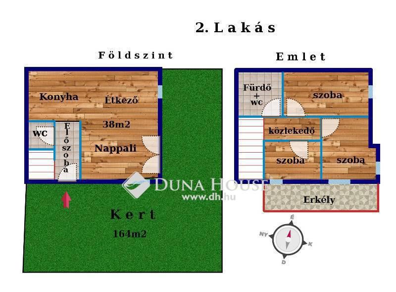 Eladó Lakás, Budapest, 22 kerület, ÚJ, MINIMÁL KERTKAPCSOLATOS