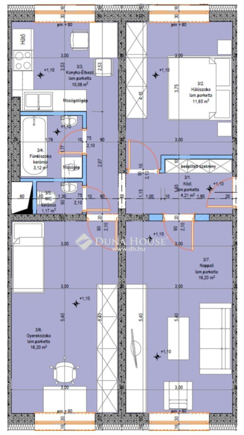 Eladó Lakás, Bács-Kiskun megye, Kecskemét, Újszerű földszinti 3 szobás lakás