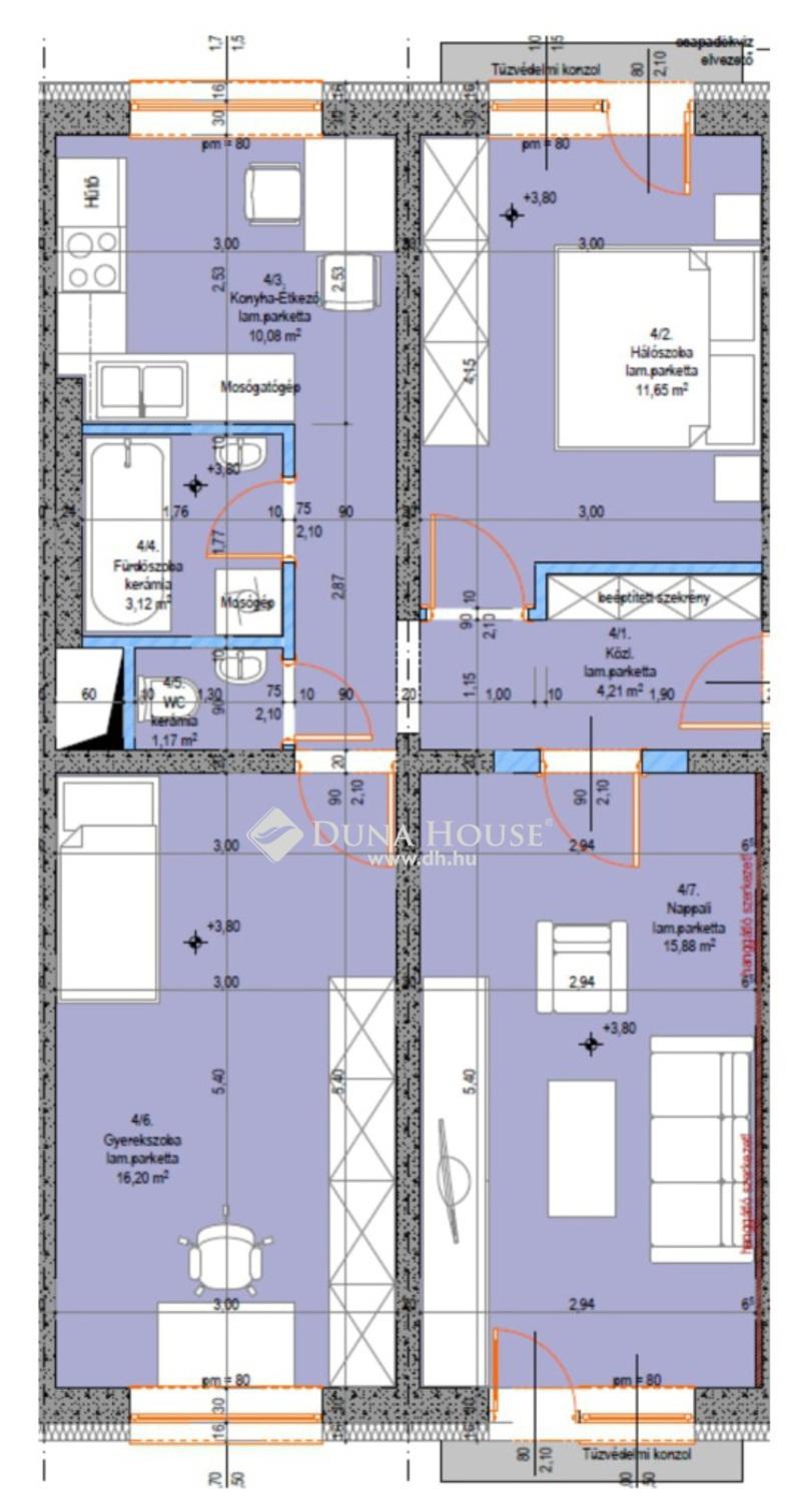 Eladó Lakás, Bács-Kiskun megye, Kecskemét, Újszerű 3 szobás lakás - 1. emelet