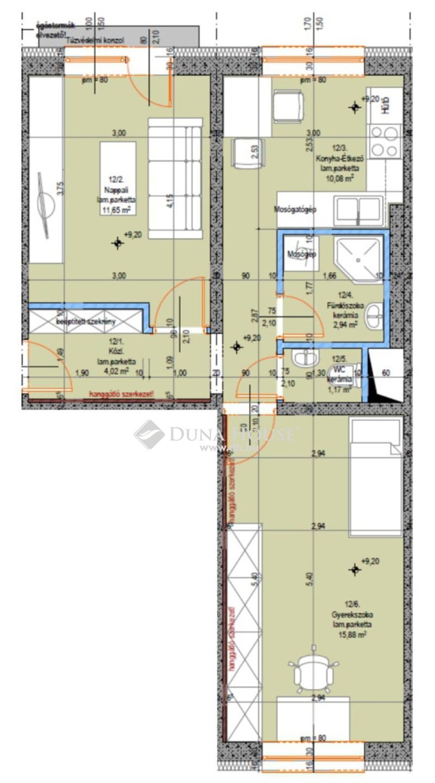 Eladó Lakás, Bács-Kiskun megye, Kecskemét, Újszerű 2 szobás lakás - 3. emelet