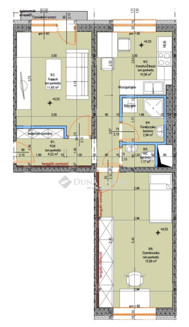 Eladó Lakás, Bács-Kiskun megye, Kecskemét, Teljes körűen felújított 2. emeleti 2 szobás