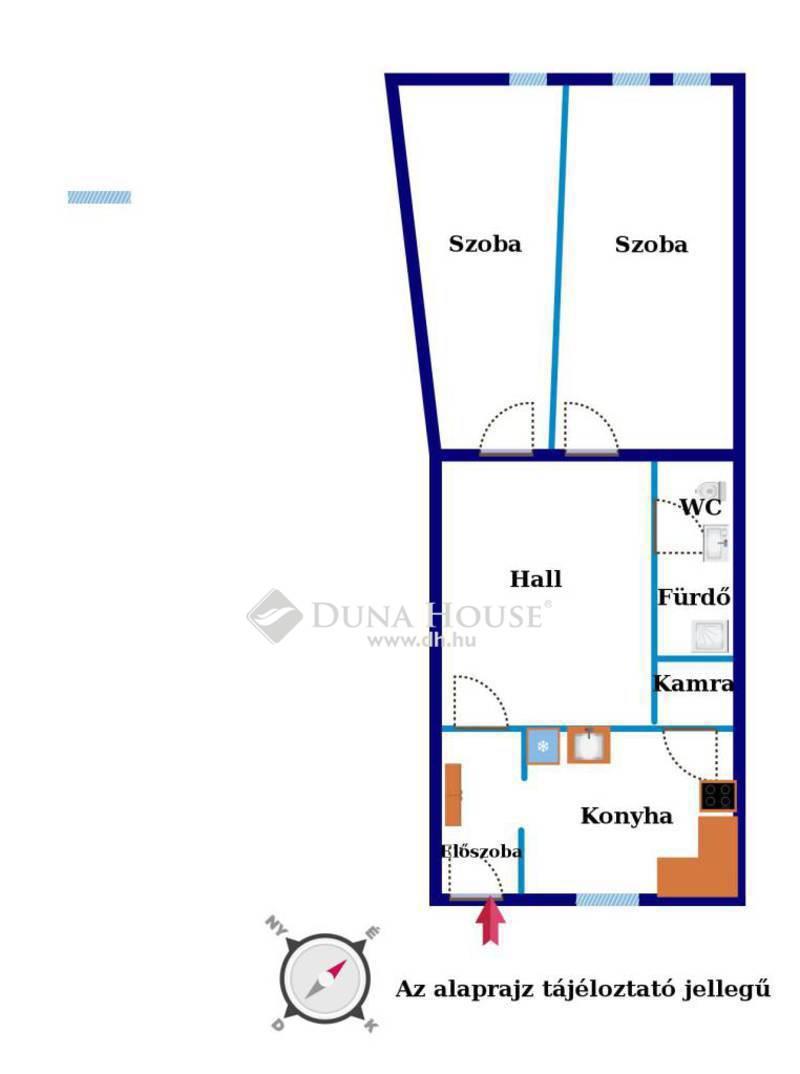 Eladó Lakás, Budapest, 5 kerület, Belgrád rakpartnál felújított 2 különnyíló szoba.