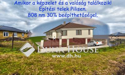 Eladó Telek, Pest megye, Pilis, Közel a vasútállomáshoz 15 m utcafronttal