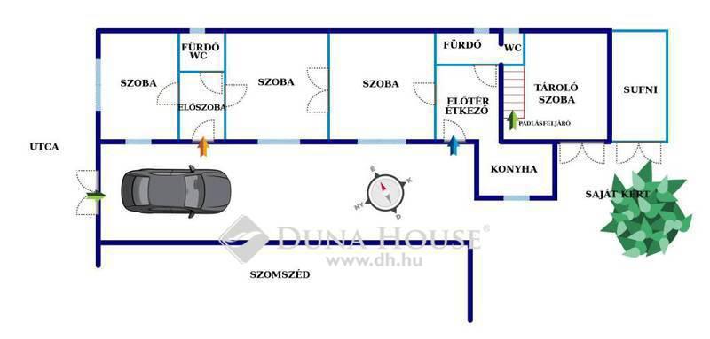 Eladó Ház, Pest megye, Törökbálint, Központban! 2 lakás+üzlet