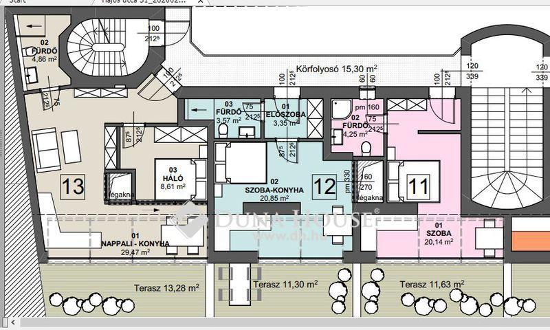 Eladó Lakás, Budapest, 6 kerület, Operánál városi panorámás teraszos új ép. lakások