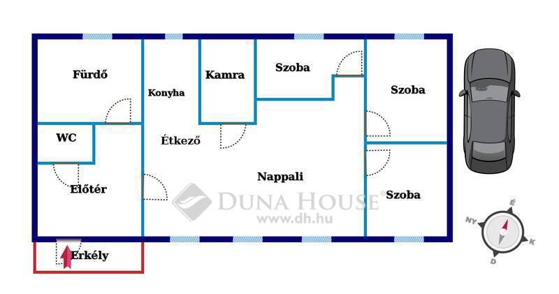 Eladó Lakás, Bács-Kiskun megye, Kecskemét, Gyönyörű 3 hálószobás lakás a Belvárosban