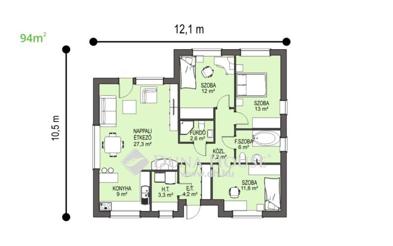 Eladó Ház, Bács-Kiskun megye, Kecskemét, 94 m2-es új-építésű családi ház 5kW napelemmel