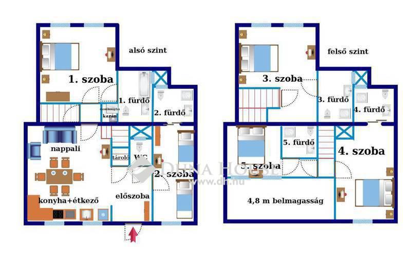 Eladó Lakás, Budapest, 7 kerület, Különleges hangulatú 5 szobás apartman lakás