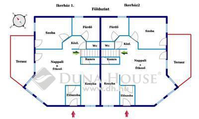 Eladó Ház, Budapest, 14 kerület, Zugló kertvárosi részén, prémium minőségű ikerház
