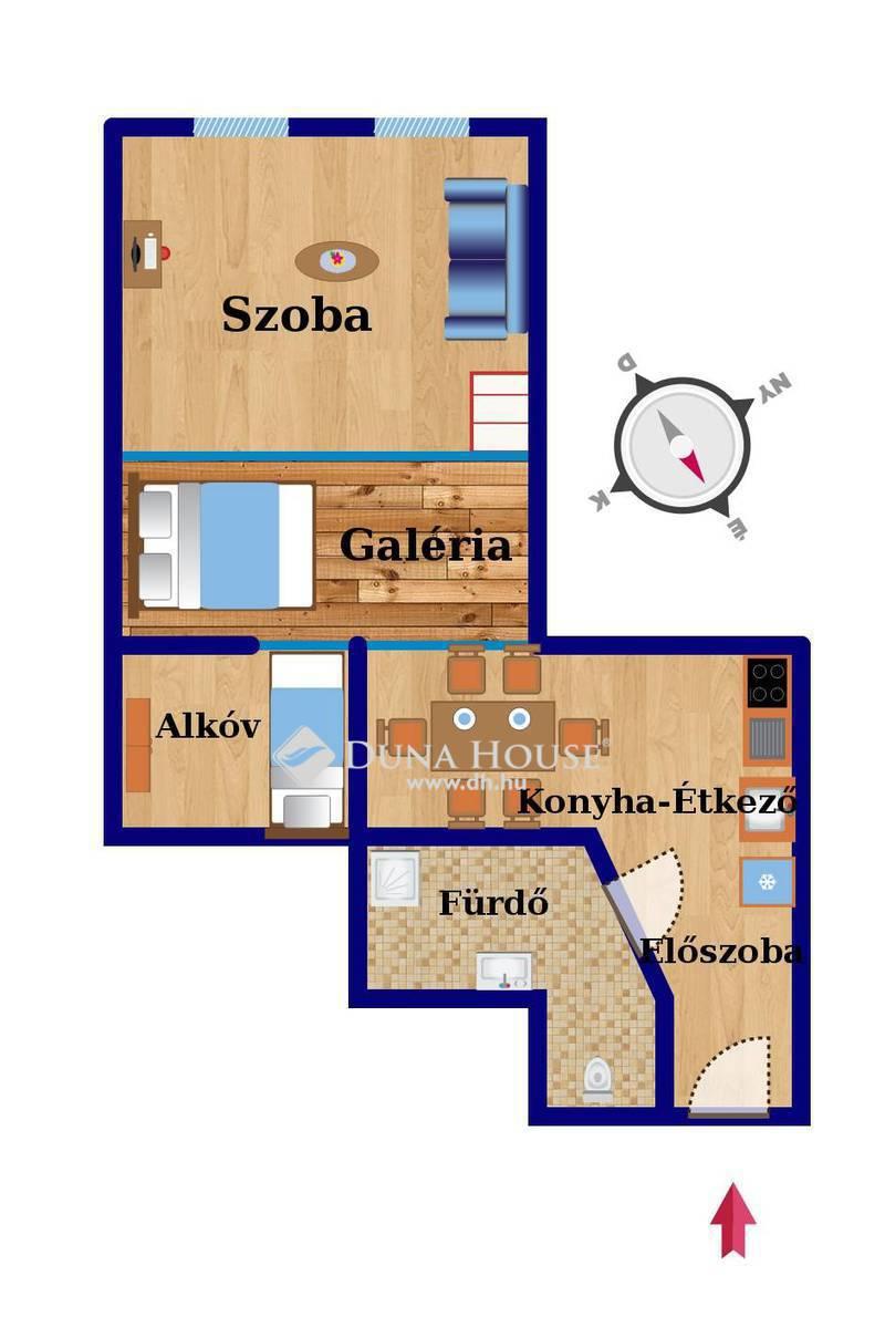 Eladó Lakás, Budapest, 7 kerület, Ligetvárosban felújított, galériás lakás