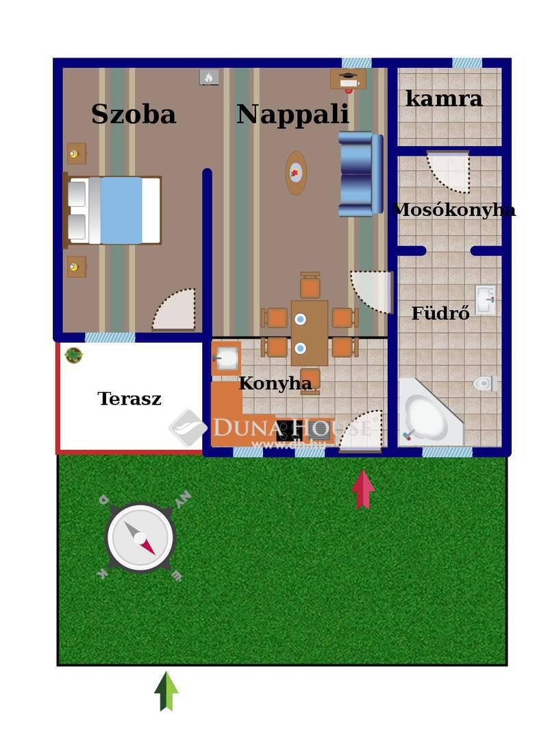 Eladó Ház, Budapest, 20 kerület, Kossuthfalván jó állapotú házrész intim kerttel