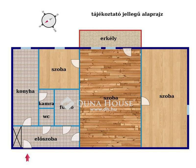 Eladó Lakás, Budapest, 12 kerület, Zsibói utca, erkély, 3 szoba, első emelet!