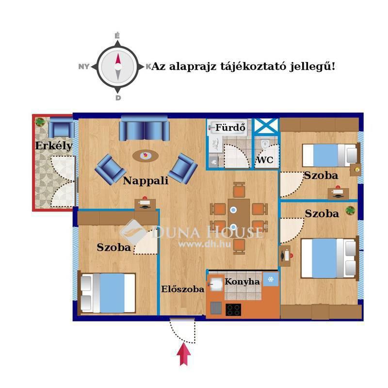 Eladó Lakás, Budapest, 11 kerület, 3 külön nyíló szoba, napfényes, tágas, terasszal!
